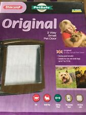 2 WAY SMALL PET DOOR BY STAYWELL. PETSAFE. FOR CATS AND DOGS. COLOUR: BROWN