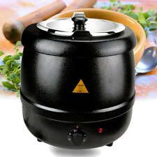 Black Electric Soup Kettle 10L Warmer Countertop Pot Heater Kitchen Food Cooker