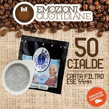 50 Cialda caffè Borbone 44mm miscela NERA FORTE per Bialetti Macchina da caffè