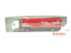 Herpa Plastique Scania Camion Motorsport Transporter Rouge 1.87 Echelle Emballé