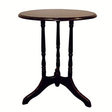 Cherry finish round accent table plant stand ORE H-8