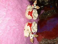 Fritz and floyd used reindeer figurine candlestick holder