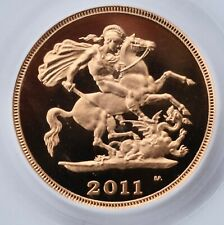 2011 Gold Half Sovereign Proof PR70 PCGS Great Britain 1/2 Royal Mint Sov