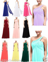 One Shoulder Chiffon Gown Long Bridesmaid Formal Party Evening Dress UK N68