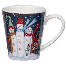 Novelty Premier Snowman Design Christmas Mug - Three Snowmen
