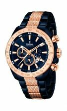 Festina Herrenuhr Chronograph Quarz Edelstahl beschichtet Armband F16886 rosè