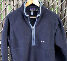 Vintage 1990's Patagonia Synchilla Men's Blue 1/2 Zip Marsupial Fleece Jacket S