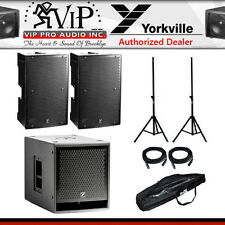 "Yorkville PS12P (2) + 1 PS15S Powered 12"" 1400W Loudspeaker 15"" Active Subwoofer"