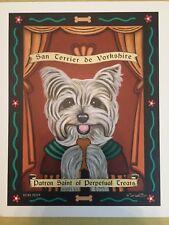 """Retro Pets Works of Art Picture, """"San Terrier de Yorkshire"""" 8"""" x 10"""""""