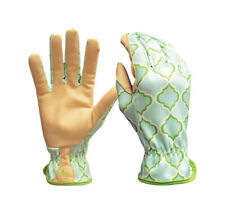 Digz  Blue  Women's  L  Synthetic Leather  Gardening Gloves