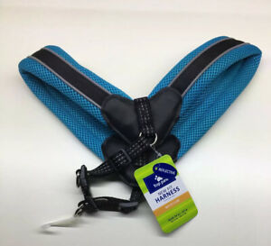 """Top Paw New Fit Dog Harness, Reflective Medium 24""""-27"""" Inches  Blue Turquoise"""