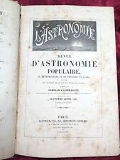 Revue d'Astronomie Populaire Météorologie Physique du Globe Illustrée Flammarion