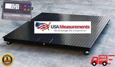 "5 Year Warranty 48"" x 48"" (4' x 4')  Floor Scale Pallet RS-232 10,000 x 1 lb"