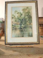 ROBERT MILLER Painting 'Sheepwash Lagoon' Yea Victoria
