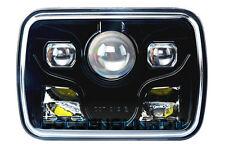 "1x 7x6"" Rectangular Projector LED Headlight Sealed Beam Headlight Black Housing"
