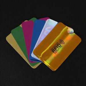10X Men Women Metal Aluminium Business Id Credit Card Wallet Holder Pocket Case
