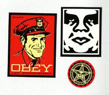 OBEY GIANT Shepard Fairey 3 STICKER LOT Set #25 BRAND NEW Law Enforcement Police