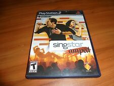 SingStar Amped (Sony PlayStation 2, 2007) Used Complete PS2 (Rock)