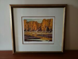 A.J. CASSON 1898-1992 - Grace Lake - RARE Printers Proof - #4/15 - Signed Framed