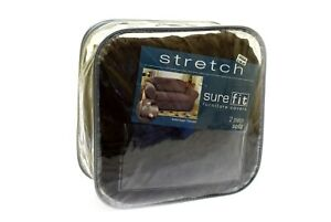 Sure Fit Stretch Suede Bench Seat - Sofa Slipcover - Chocolate (SF34802)