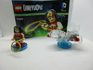 Lego Dimensions DC Comics Fun Pack 71209 Complete Wonder Woman Invisible Jet