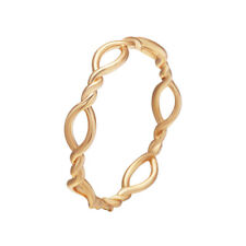 Simple Thin Intertwined Twisted Rope Toe Rings for Women Girls Gift Knuckle Ring