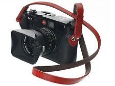 Artisan & Artist Kamera Gurt Tragriemen ital. Leder rot ACAM-280 für Leica M X Q