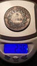 REPUBBLICA VENETA - 5 LIRE 1848 UNIONE ITALIANA - BORDO LISCIO    n.48