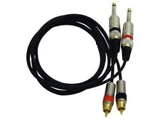 PYLE PPRCJ05 Dual 5ft. Professional Audio Link Cable 1/4'' Male to RCA Male