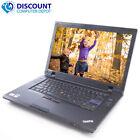 "Lenovo Laptop Computer Thinkpad Windows 10 Pc 15.6"" Dual Core Cpu 4gb 250gb Dvd"