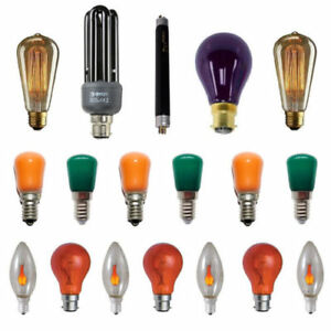 Party / Decorative Lamps UV Effect Flicker Flame Fireglow Coloured Light Bulbs