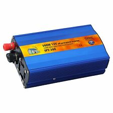 300W 12V Pure Sine Wave Power Inverter 230V AC for Motorhome, Boat or Off-grid