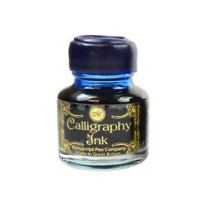 Manuscript Calligraphy INK POT Sapphire Blue 30ml Bottle