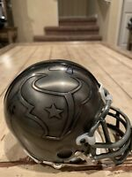 Andre Johnson David Carr Autographed/Signed Pewter Mini Helmet Houston Texans