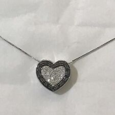 NECKLACE 18 CT WHITE GOLD WITH PENDANT HEART 18 CT WHITE GOLD WITH DIAMONDS