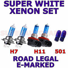 RENAULT SCENIC HID 2003-2005  SET H7 H11 501 HALOGEN XENON EFFECT LIGHT BULBS