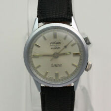 Vintage 1960's Stainless Steel 35mm 17J Vulcain Alarm Incabloc Wrist Watch
