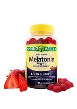 Spring Valley 5 mg Melatonin strawberry Adult Vegetarian Gummies Sleep Sup 120CT