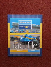 MILD SEVEN RENAULT F1 TEAM FACTFILE ROUND 17 BRAZIL 2005 ALL DRIVERS INFO ALONS