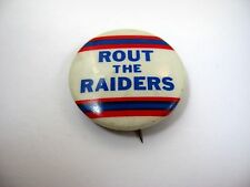 Vintage Collectible Pin Button: Rout the Raiders Oilers Colors NFL Football
