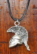 Roman Empire Ancient Greek Spartan Warrior Mohawk Helmet Pendant Charm Necklace