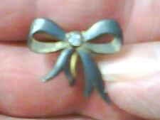 Earrings, Very Old Sterling, Pretty Bows, Screwon Backs. Needs Polishing