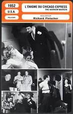 L'ENIGME DU CHICAGO EXPRESS  McGraw,Fleisher(Fiche Cinéma)1952 The Narrow Margin