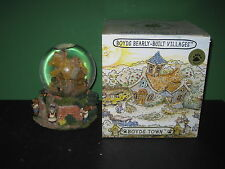 Boyds Bearly Built Villages Bailey's Cottage Musical Water Globe Mib