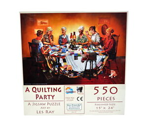 A Quilting Party Jigsaw Puzzle 550 Piece