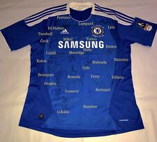 More details for chelsea 2012 champions league & fa cup winners shirt signed by squad at wembley