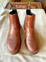 Mens Doc Dr Marten's Pull On Chelsea HARDY Brown Leather Boots - 11M