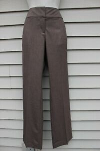 NWT Ann Taylor Brown Signature Fit Trouser Pants 8