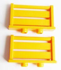 Playmobil 2 x ZAUN klein orange aus 3072 Bauernhof Absperrung Pferdestall
