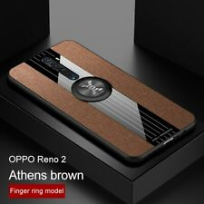 Phone Case for OPPO Reno 2 2z Case Cover Magnetic Ring Holder Fabric Soft Frame